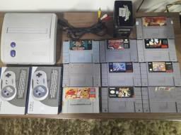 Super Nintendo completo 10 jogos