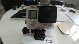 Camera Gopro Hero4 Com Varios Acessorios