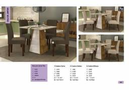 Mesa de jantar fler 4 cadeiras zap *