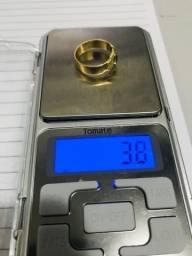 Anel de ouro 18 com brilhantes