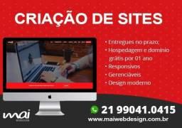 Criação de sites, logo, apresentação em ppt, cartão de visita, website profissional