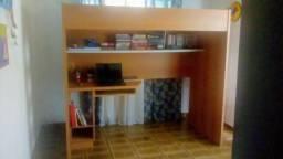 Cama de solteiro com escrivaninha ,cama solteiro, escritório, escrivaninha, estante,estudo