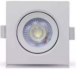 Título do anúncio: Spot 3w Quadrado Direcionavel Branco Quente - Mega Infotech