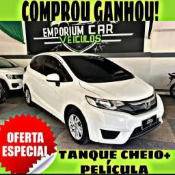 TANQUE CHEIO SO NA EMPORIUM CAR!!! HONDA FIT 1.5 LX AUT ANO 2016 COM MIL DE ENTRADA