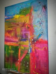 Tela/ painel em arte abstrata