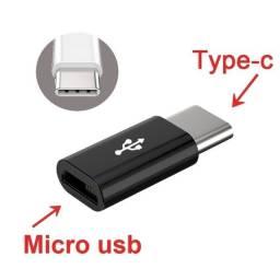 Adaptador V8 micro USB para Tipo C