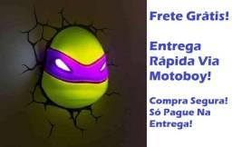 Luminária 3d Decorativa (T. Ninja Donatello) - Seu Heroizinho(a) Feliz! Frete Grátis!