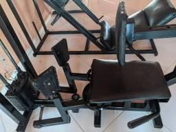 Cadeira abdutora/adutora conjugada