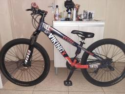 Bike Vikingx aro 26 Vermelha e azul