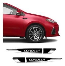 Título do anúncio: Par De Aplique Lateral Corolla 2015/2019 Emblema Resinado