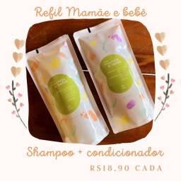 Refil Shampoo e Condicionador <br>Mamãe e Bebê Natura