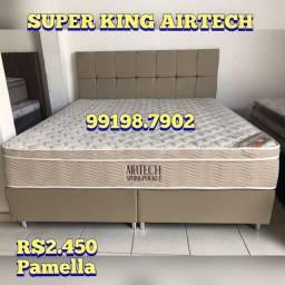 Título do anúncio: Cama SUPER KING MOLAS ENSACADAS +2 travesseiros