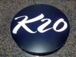 Luminoso 50cm - Aço Inox - 01 Face Externo Com Sua Logo.