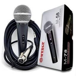 Microfone m-58 com fio