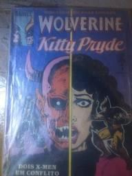 Título do anúncio: Wolverine e Kitty Pride hq gibi