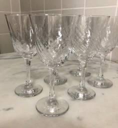 Conjunto 6 taças de vidro para vinho