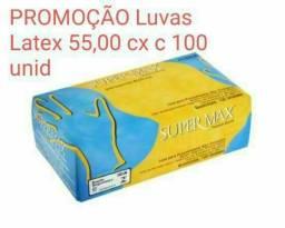 Luvas látex promoção 55.00 Cx