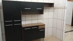 Título do anúncio: Armário de cozinha compacta madesa preto fosco com armário e balcão