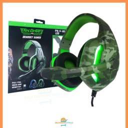 Headset Gamer Fone Para Game Com Microfone Tecdrive Original