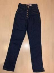 Calça Jeans Biotipo Skinny E Cintura Alta - Tamanho 34