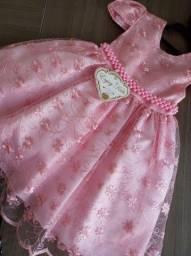 Vestido realeza rosa