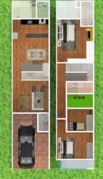 Título do anúncio: Sobrado com 3 dormitórios à venda, 90 m² por R$ 460.000,00 - Uvaranas - Ponta Grossa/PR