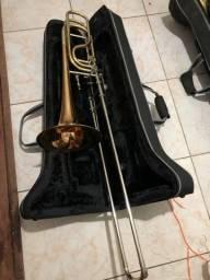 Trombone baixo com 2 rotores