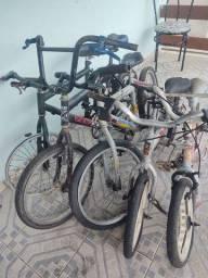 5 bicicletas duas aro 16 e 30 20