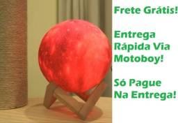 Luminária Redonda (Lua Cheia 3D) Troca de Cor - Frete Grátis! Poucas Unidades!