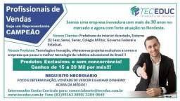 Representante Comercial - Paraíba - Ganhos de 20 a 30 mil por mês