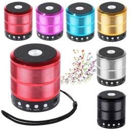 Promoção Mini Caixinha Som Bluetooth Portátil Usb Mp3 P2 SD Rádio Fm