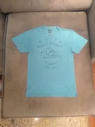 camiseta blusa quiksilver original verde, tamanho m, estado de nova