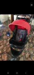 Carrinha e bebê conforto