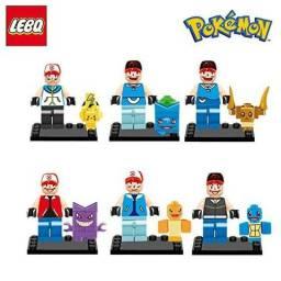 Kit com 8 Legos pokemons