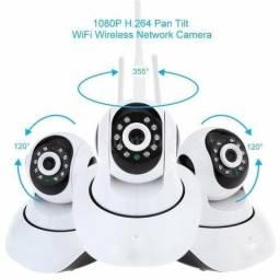 Câmera Ip 1.3mp 720p Hd Wireless Wifi Audio Sd P2p 2 Sistema de alerta de movimento,