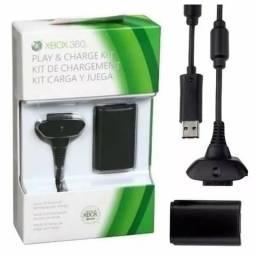 Kit 2 Bateria Recarregável Xbox 360 Cabo Carregador X360