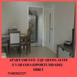 Apartamento, ótima oportunidade no Imbui:2 quartos (1 suíte), varanda, nascente