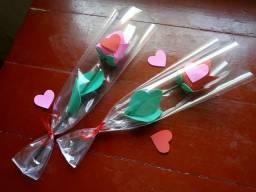 Flor com chocolate em cada flor