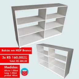 Balcão em MDF | Branco