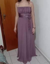Vestido de Festa longo Lilás