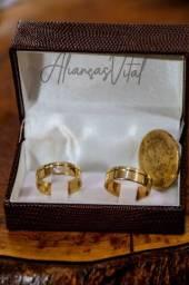 Aliança de casamento de moeda antiga