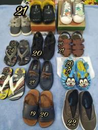 Lote de sapato infantil menino