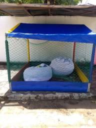 Piscina de bolinha R$1000,0, com dois sacos de bolas valor negociável