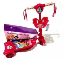 Patinete Infantil para 2 a 6 anos Sonic Princesas e Carros