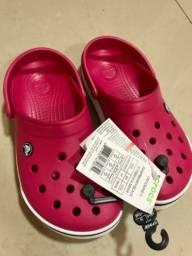 Sandália Crocs Original- tam 37, cor Pink