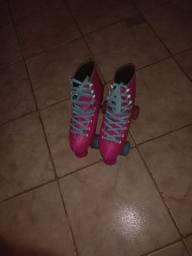 Patins rosa n 37 80 reais