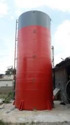 Caixa Dagua 50.000 L Cilíndrica em Fibra de Vidro-Ecocaixa
