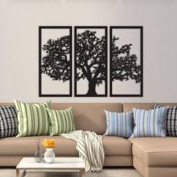 Quadro árvore da vida 3 peças