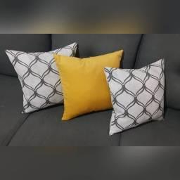 Almofadas em Veludo / Astúria - Amarelo / Estampada