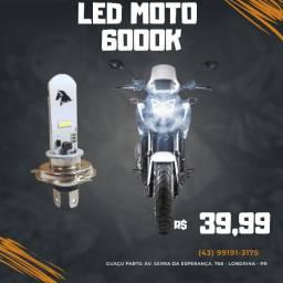 Lampada Led H4 6000k Moto Carro Caminhão Super Branca Ultra